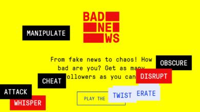 """لعبة هدفها """"تلقيح"""" المستخدمين ضد الأخبار الزائفة"""